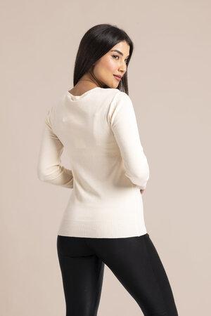 Blusa básica em tricot