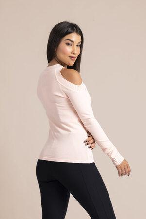 Blusa em tricot ombro vazado