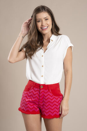 Shorts bordado lurex