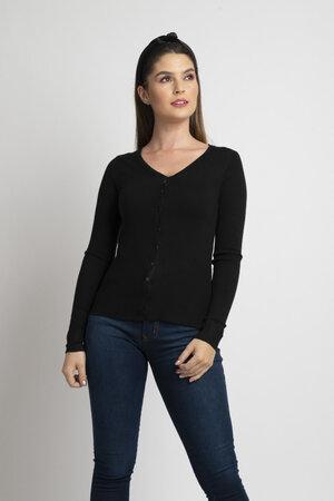 Cardigan basico em tricot