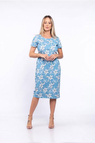 Vestido estampa floral tubinho