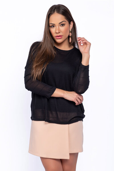Blusa morcego tricot