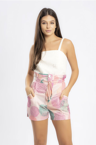 Shorts estampado clochard cadarco