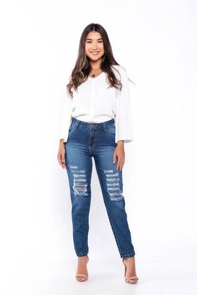 Calça jeans destroyed