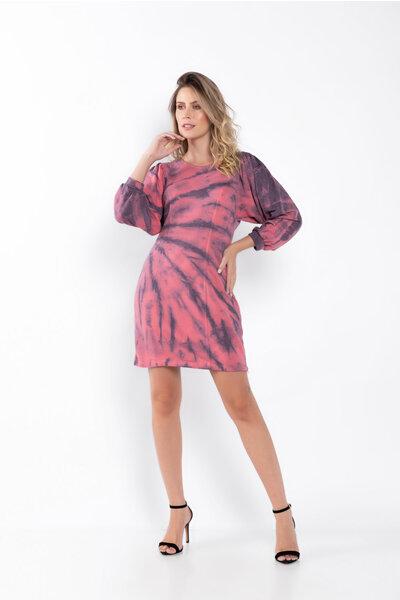 Vestido moleton tie dye