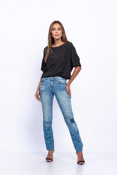 Calça jeans reta singida