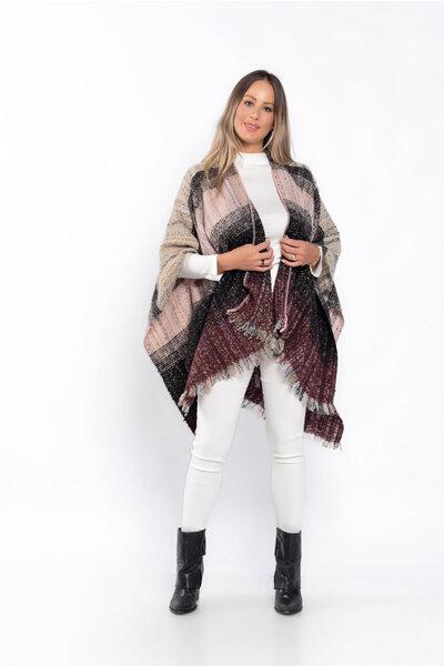 Xale tricot mesclado