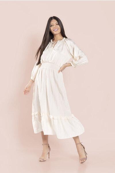 Vestido liso longo elastex