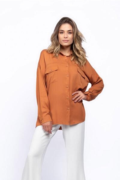 Camisa viscose bolsos