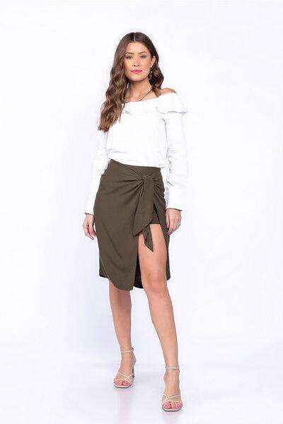 Short saia com amarração