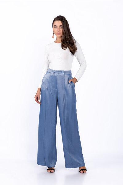 Calca pantalona cetim