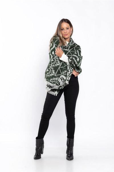 Echarpe tricot estampado