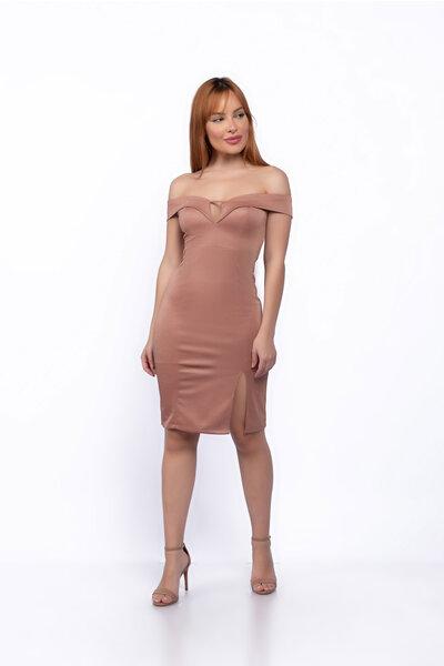 Vestido tubinho lurex detalhe recorte