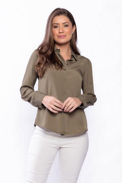 Camisa básica manga comprida com botões