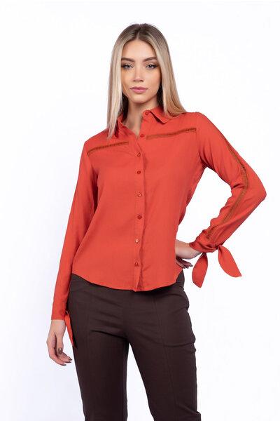Camisa viscolito detalhe laço
