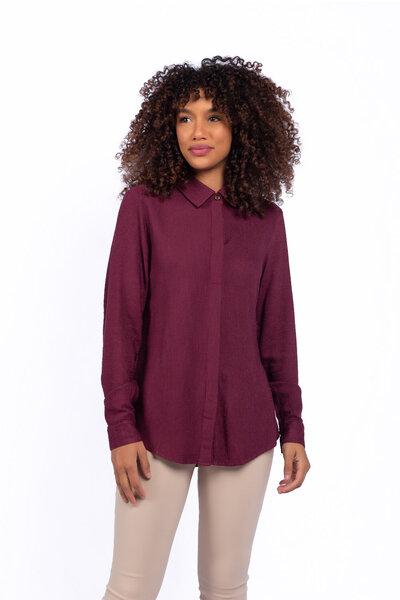 Camisa texturizada em viscose
