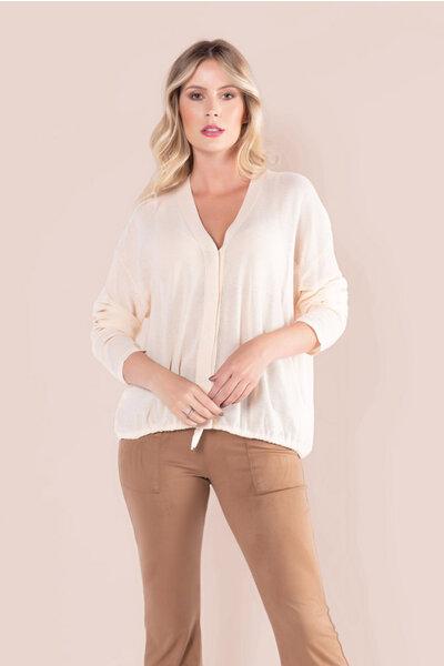 Blusa viscose ampla decote v com botoes