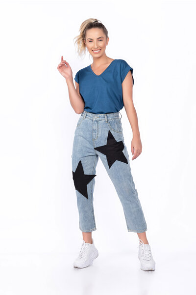 Calça jeans pantacourt star