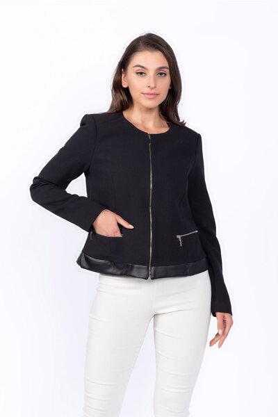 Casaco zipper detalhe barra p.u
