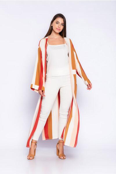 Kimono longo listrado