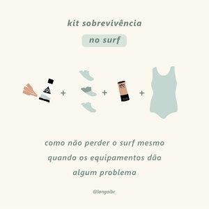 Kit sobrevivência no surf para não perder um dia de onda