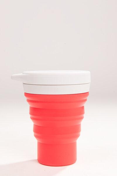 copo de silicone reutilizável melancia 400ml | menos 1 lixo