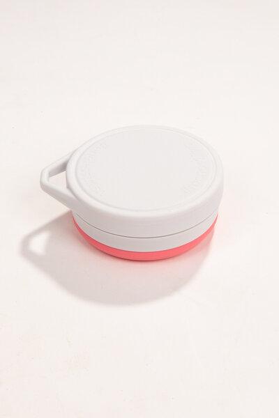 copo de silicone reutilizável rosa 400ml | menos 1 lixo