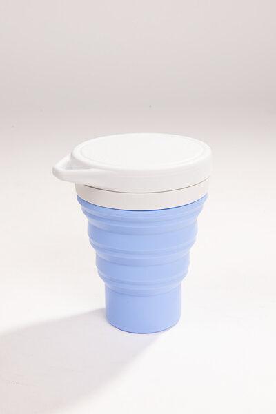 copo de silicone reutilizável lavanda 400ml | menos 1 lixo
