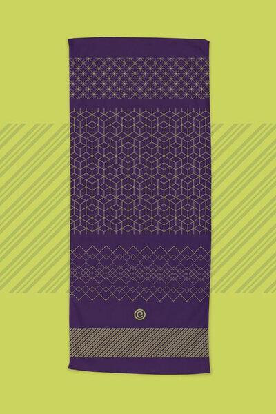 toalha de yoga sampa roxo | ekomat