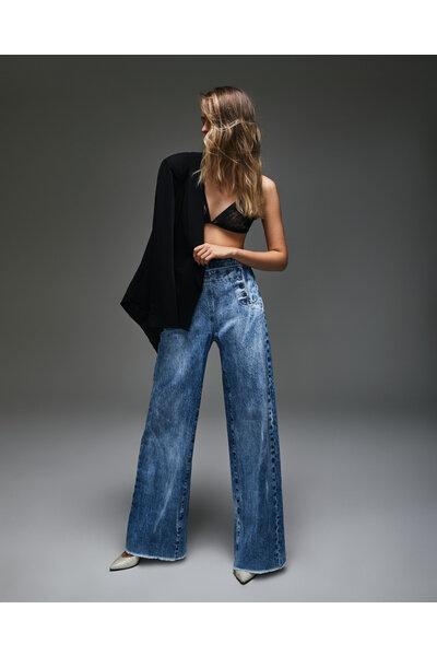 Calça Marinheiro Jeans Vintage