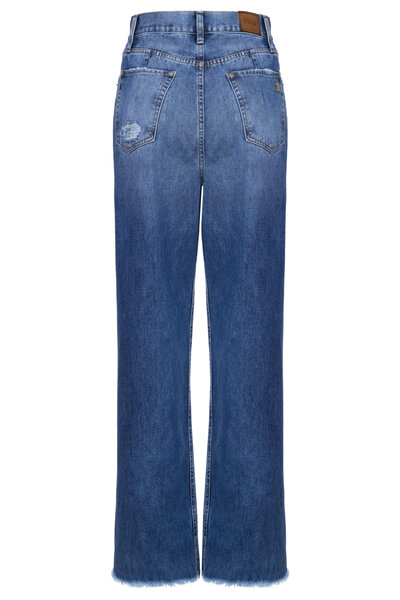 Calça Pantalona Prega Blue
