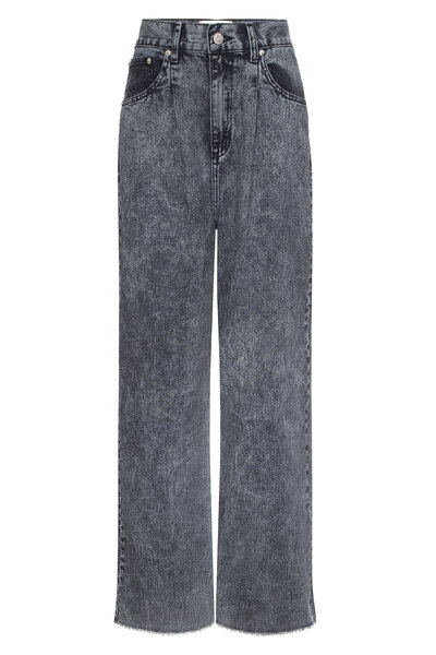 Calça Pantalona Prega Black Snow