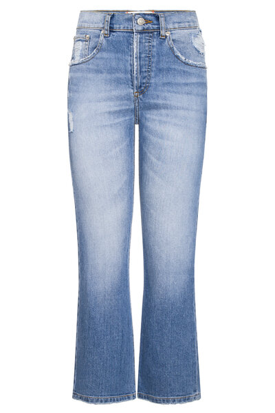 Calça Cropped Jeans Medio