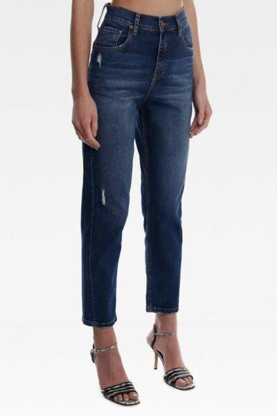 Calça Baggy Bia Jeans Escuro