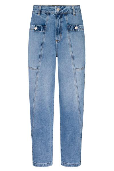 Calça Baggy Botão Jeans