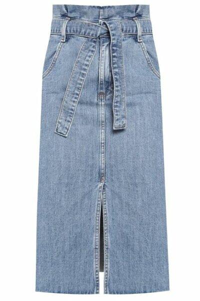 Saia Clochard Jeans Medio