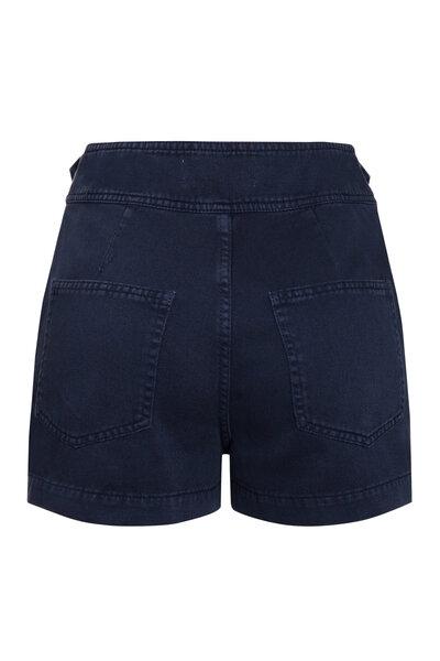 Short Transpassado Azul Marinho