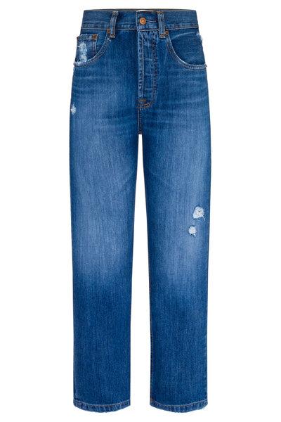 Calça Boyfriend Jeans Escura