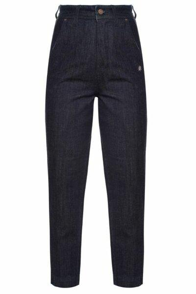 Calça Alfaiataria Jeans Escuro