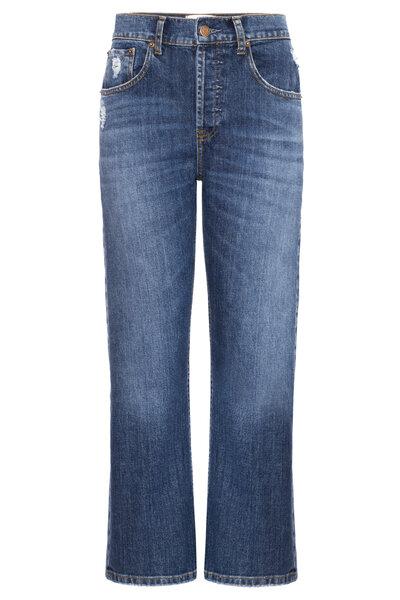 Calça Cropped Jeans Escuro