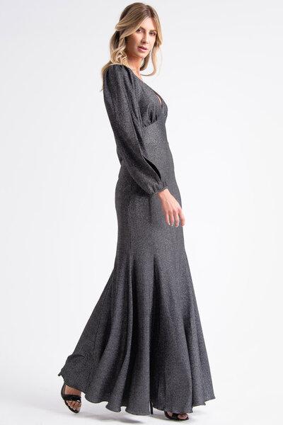 Vestido longo londres lurex