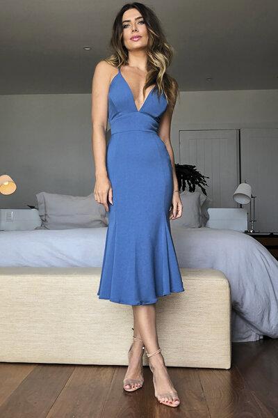 Vestido midi trina