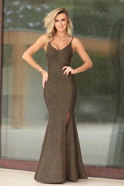 Vestido longo heidi lurex