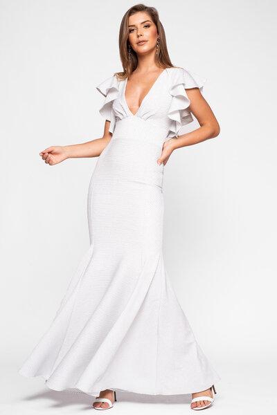 Vestido longo oprah lurex