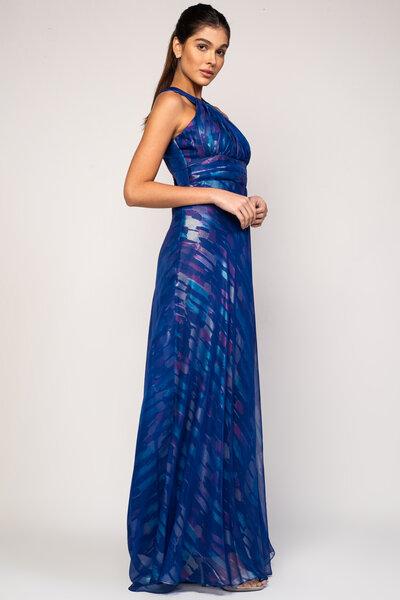Vestido longo emilia estampado