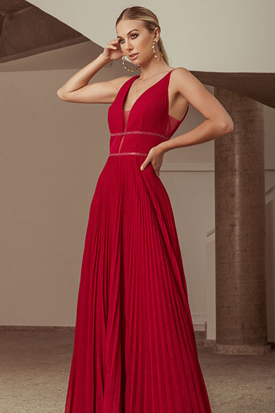 Vestido longo Rubia