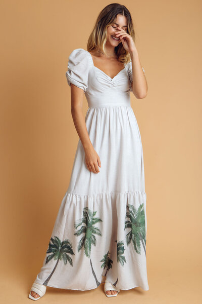 Vestido longo palmer