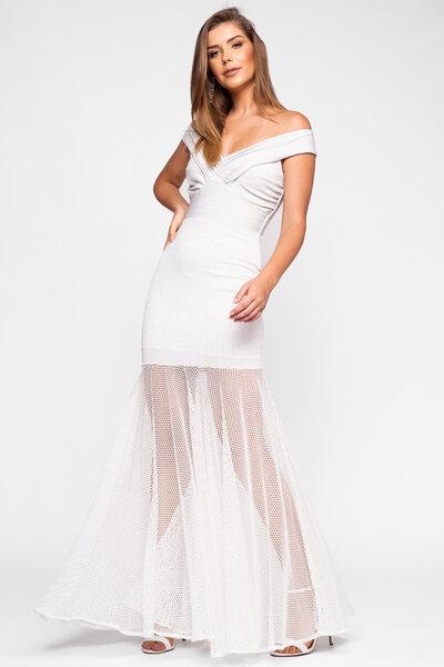 Vestido longo katrina lurex