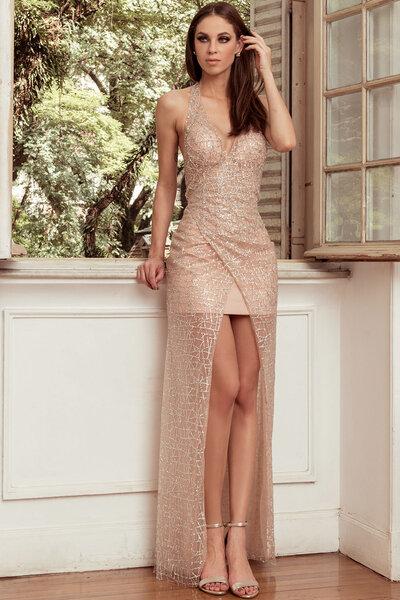 Vestido longo caitlyn