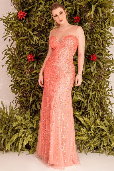 Vestido longo fiora